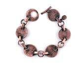 Copper Chain Bracelet | Compass Jewelry | Arts and Crafts Style