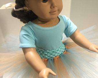 "18"" Doll Sized Tutu, dance tutu for 18"" doll"
