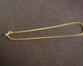Vintage Genuine 18KT Yellow Gold Anklet, Made In Italy