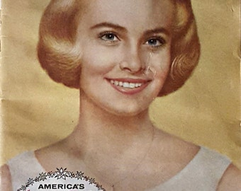Vintage Booklet, The Story of Beautiful Hair, America's Junior Miss, John H. Breck Inc, Ephemera