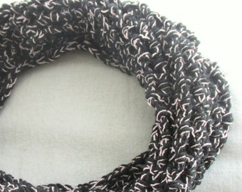 BRAND NEW LISTING - Black and Sparkly Pink One Size Fits Most Cowl