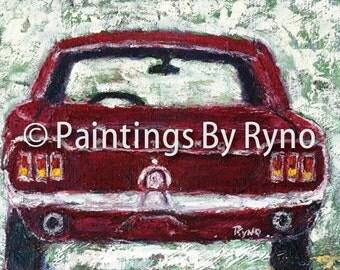 Red Mustang Art Print Print Art Wall Hanging Home Decor