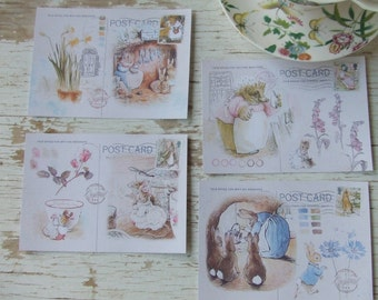 Peter Rabbit notecards - small notecards - mini notecards - Beatrix Potter notecards - scrapbooking paper - blank postcards - embellishments