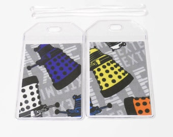Luggage Tags Set of 2 Dr Who Dalek