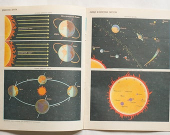 Vintage school Atlas of USSR for the fourth class, book  issued in Soviet Union on 1986. In Russian