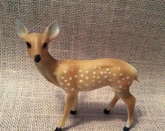 25% SALE Vintage Plastic Spotted Deer Figurine Doe