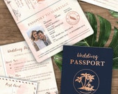 Custom listing for Mariana - 30 Passport Wedding invitation suites