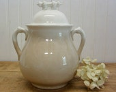 Vintage Ironstone M&S China Creamy White Lidded Sugar Pot Bowl