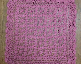 Mauve Pink Crochet Doily
