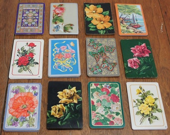 Vintage Playing Cards for Altered Art, Tags and ATCs Big Lot of 120