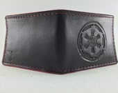 Star Wars Inspired - Imperial Cog Leather Wallet (Scarlet Edge)