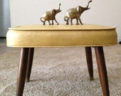 Mid-Century Mustard Yellow Foot Stool