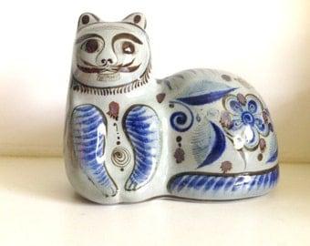 Mexican Tonala Folk Art Cat
