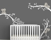 White and Warm Gray Baby Koala Decal by LittleLion Studio Koala Tree Branches