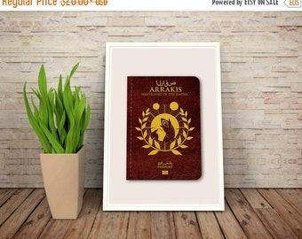 GEEKLOVE SALE Parody Scifi and Fantasy Passports // Arrakis - Wasteland of the Empire // A Dune Passport to Adventure Series Print