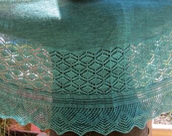Knit Shawl Pattern:  The Fetlar Long Wingspan Shawl Knitting Pattern