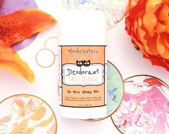 Orange Cream Organic Deodorant - Natural Vegan Deodorant Organic Sweet Orange