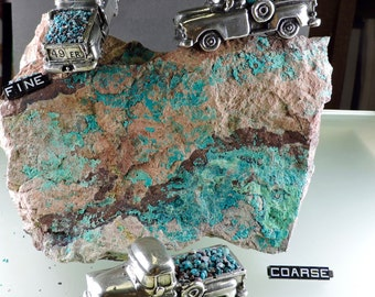 Blue Chrysocolla in Matrix Planet Mine Hand Crushed Inlay for Artists (1 pound #34) from 49erMinerals, free U.S. shipping