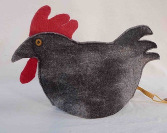 Chicken Tea Cosy in Pure Wool Felt Hand made