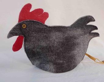 Chicken Tea Cosy in Pure Wool Felt Hand made