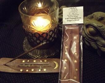 Mini Dragon's Blood Scent Stick Incense & Burner -- 20 sticks