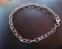 Charm Bracelets Antiqued Silver Bracelets Link Chain Bracelets 10 pieces