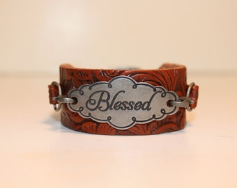 Blessed Leather Bracelet