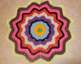 baby afghan, crochet baby afghan, ripple afghan, star afghan, newborn, scrapghan, baby blanket, new baby, photo prop