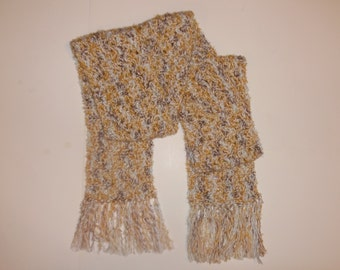 crochet scarf, autumn scarf, winter scarf, scarf with fringe, back to school