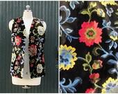 IN-VEST Vintage 1960's Bohemian Tapestry Vest   Hippie Bohemian Design   Size Medium