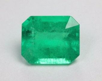 1.17cts Medium dark emerald cut loose natural Colombian emerald