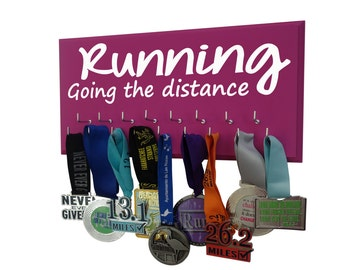 Show you are proud of your Medals with the Running Medals Holder: Running, Going the distance perfect gift for running woman