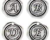 """Add On Initial """"A-Z"""" Charm, personalized letter charm, monogram, Personalized Keychain, Personalized Necklace, antiqued silver plated charm"""