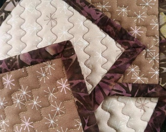 Quilted Coaster Set - Graphic Stars