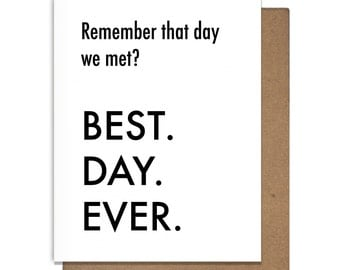 Best Day Ever Anniversary Letterpress Greeting Card Met