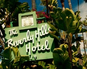 Mid Century Beverly Hills Hotel Neon Sign Photograph