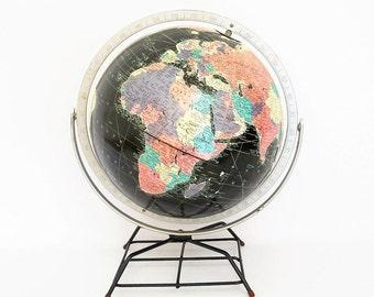 1958 Starlight Vintage Globe - Cold War Space Age Retro - Replogle