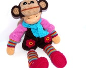 "Waldorf knitted doll Puffy 14""-reserved for J..."