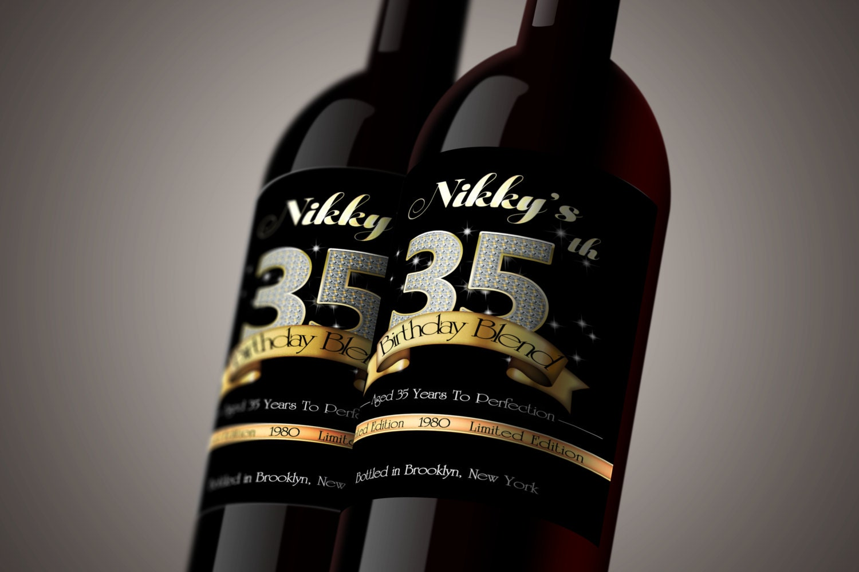 Diy Wine Bottle Labels Diy Printable Birthday Bling Custom Wine Label Personalized