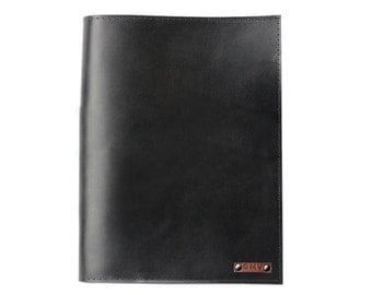 Classic Padfolio in Black Latigo Leather Made in the U.S.A. - LG-CLSC-BLk-PDFOL
