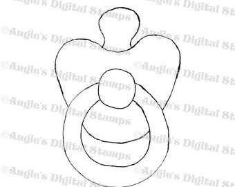 Baby Pacifier Digital Stamp Image
