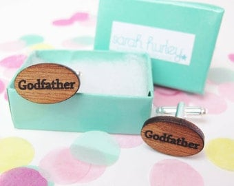 Engraved 'Godfather' Cufflinks