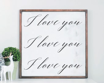 Wedding Anniversary Wood Sign, I Love You, Wood Sign Sayings, Gift for Her, Framed Wood Sign, Valentine's Day, Jane Austen, Farmhouse Sign