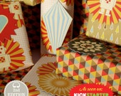 Bright Stem 3 Sheets of Mixed Wrapping Paper (folded or rolled) and 8 Tags