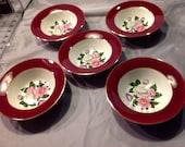 Vintage Homer Laughlin Cavalier Margaret Rose Dessert/Fruit Bowl/ 5