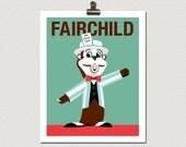 Fairchild Minnesota State Fair Roadside Attraction Illustration Poster Print