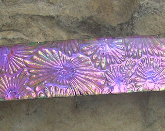 Pink and Mauve Barrette Fused Dichroic Glass Barrette French Barrette