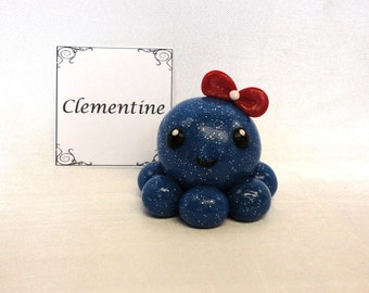 Clay Octopus- Clementine the Polymer Clay Octo Buddy