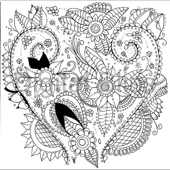 whimsical flowers coloring pages - photo#6