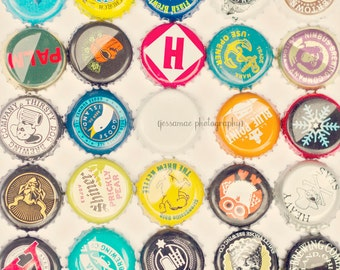 Beer Art, Craft Beer Gift, Beer Gift Idea, Bottle Cap Art, Beer Decor, Beer Print, Beer Poster, Bar Art, Beer Cap Gift for Him, Husband Gift